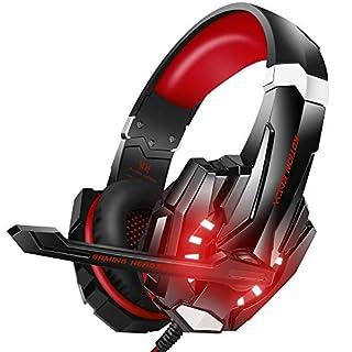 طلب BENGOO G9000 Stereo Gaming Headset for PS4, PC, Xbox One Controller, Noise Cancelling Over Ear Headphones with Mic, LED Light, Bass Surround, Soft Memory Earmuffs for Laptop Mac Nintendo PS3 Games