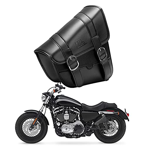 Motorcycle Swingarm Bag, Side Tool Bags Swing Arm Bags with Synthetic Leather for Sportster Street 750