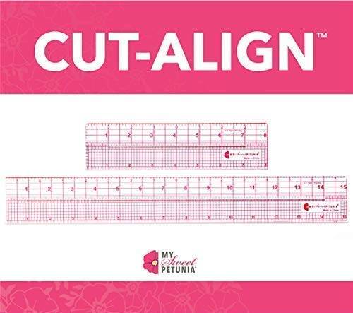 Cut-Align Precision Slotted Rulers (Set of 2 Rulers) for Card Making, Sewing and Other Crafting; from The Designer of The Misti and Creative Corners; Perfect Companion for Your Craft Knife