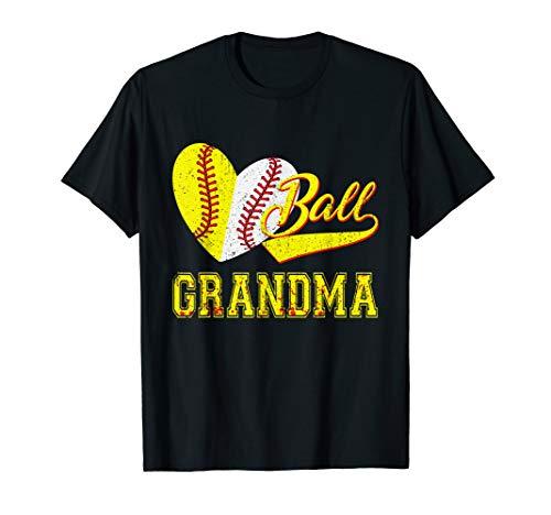 Baseball Softball Ball Heart Grandma Shirt Mother's Day Gift
