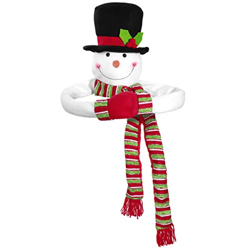 TOYANDONA 1PC Christmas Tree Topper Snowman Hugger Xmas/Holiday/Winter Wonderland Party Decoration Ornament Supplies Treetop Hugger for Winter Xmas Party