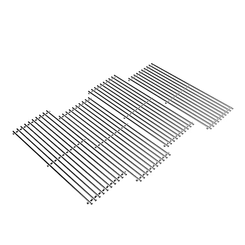 Solid Stainless Steel BBQ Grill Grates for Bull Most Models 19.25  x 7.5  OEM 16517, Outlaw 26038,26039, Steer Premium 69008,69009, Lonestar Select 87048,87049, 7 Burner Premium 18248,18249, Set of 4