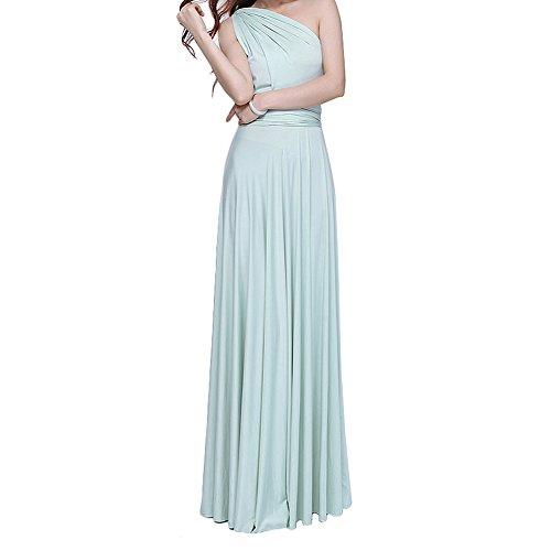 Comeon Bridesmaid Dress,Donna Vestito Lunghe Senza Schienale Scollo a V Senza Maniche Maxi Abito da Sera