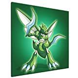 Scyther Poke-M-On Poster Painting 16x16 Inch Large Framed Canvas Wall Art For...