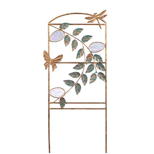 Grasslands Road Planter Trellis - Garden Planter - Yard Planter - Art Garden Décor - Garden Décor, Metal and Glass, 22 by 8 Inches