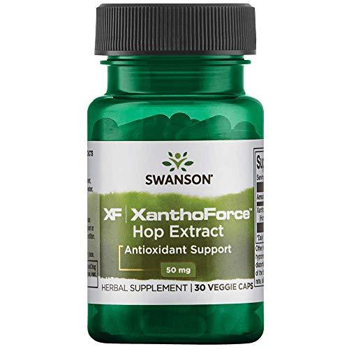 Swanson Xanthovital Standardized Hop Extract 50 Milligrams 30 Veg Capsules