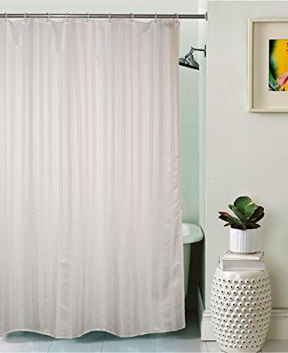 Lushomes Unidyed Duschvorhang, Polyester, mit 12 Kunststoffösen, Weiß