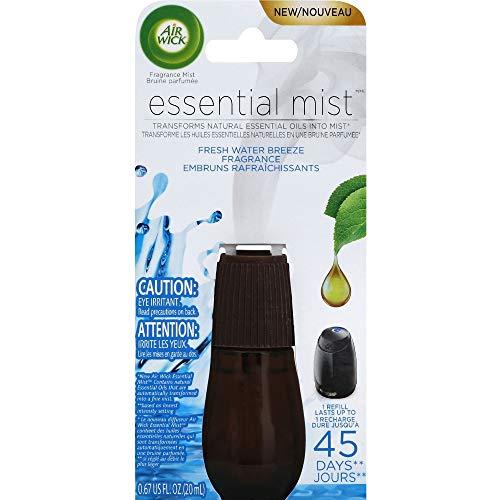 Air Wick Essential Oils Diffuser Mist Refill, Fresh Water Breeze, 1ct, Air...