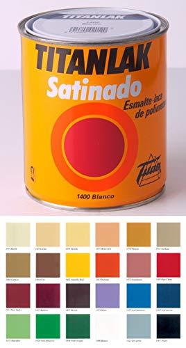 Titanlux - Esmalte-Laca poliuretano satinada Titanlak, Blanco, 375ML (ref. 011140038)