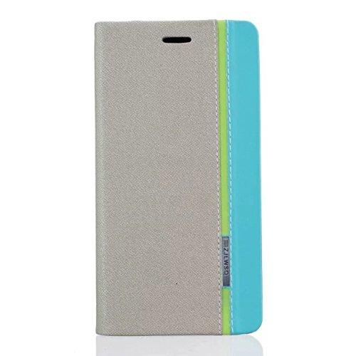Für Xiaomi Mi Max 2 Lederhülle , YIGA Farbe Stitching grau Tasche PU Leder Cover Standfunktion Schutzhülle Handy-Kasten Handyhülle Bookstyle Handytasche Ledertasche Hülle Hülle für Xiaomi Mi Max 2