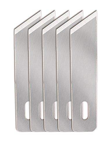 Fiskars Lame de rechange originale n°19 (Incurvée), Pour Fiskars Cutter de Précision, 5 unités, Acier de qualité, Argent, Lame de haute performance, 1024404