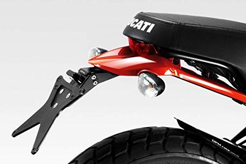 Ducati Scrambler 800 Desert Sleed - Kit Kennzeichenhalter (D-0205) - Einstellbare Nummernschild Halter - inkl. LED und Hardware-Bolzen - Motorradzubehör De Pretto Moto (DPM Race) - 100% Made in Italy