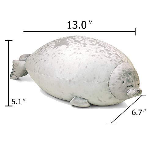 Luckyid Seal Hug Pillow Japan Osaka Aquarium Gefüllte Baumwolle Plüschtier Puppe Spielzeug Dekoration