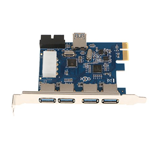 balikha Tarjeta de Expansión PCI- Extendida con 4 Puertos USB3.0 Integrado de 19 Pines