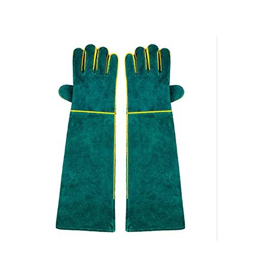 Bissfest Tierhandschuhe, AUOKER 23 zoll Langlebig Schnittschutz-Handschuhe für Baden und Fellpflege, Handhabung Hunde/ Katzen / Vögel/ Schlangen/ Reptilien/ Kratz - kratzfest Sicherheitshandschuhe