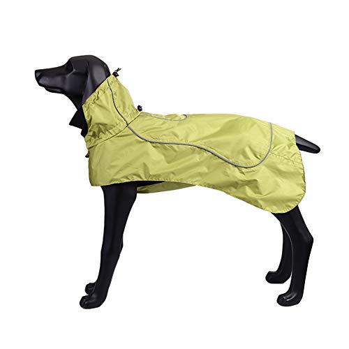 BLACKDOGGY Hund Jacke wasserdicht Verstellbarer Kordelzug, Winddicht warm für kaltes Wetter Hundemäntel klein, mit Gurtloch (XS)