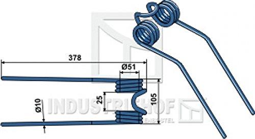 Kreiselheuerzinken 378-105-10 mm für Deutz-Fahr Best.-Nr. 15-DEU-04