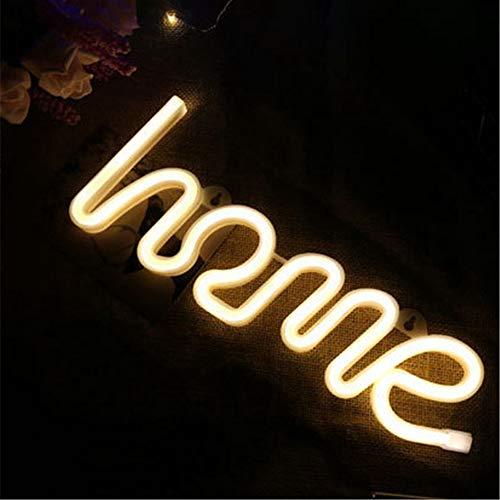 Guijiyi LED de Neón, Luz de Neón Señales Luminosas LED, Batería o USB Powered, Decoración de Pared para Navidad Luces de la Noche, para el Dormitorio Infantil, Bar, Reunirse