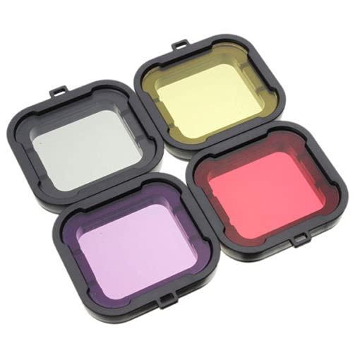 ARCADORA 4 colores opcionales ABS subacuático colorido Dimmable buceo filtro UV lente cubierta kit para GoPro Hero 4 3+