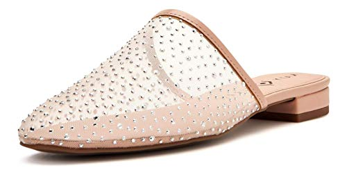 Katy Perry Women's The Marcy Mule, Light TAN/Silver, 5