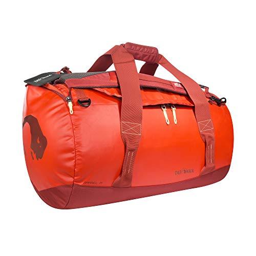 Tatonka Barrel M Reisetasche - 65 Liter - wasserfeste Tasche aus LKW-Plane mit Rucksackfunktion und großer Reißverschluss-Öffnung - Rucksacktasche 65l - Damen und Herren -...