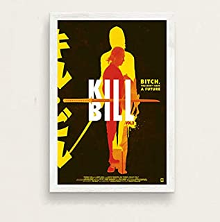 Wall Art Picture Kill Bill Umatherman Quentin Tarantino Classic Movie Series Vintage Art Painting Canvas Poster Wall Home Decor 42X60 cm No Frame