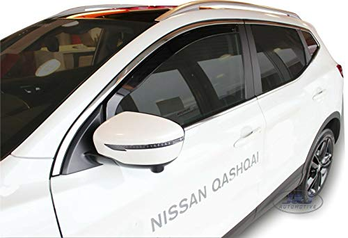 J&J AUTOMOTIVE Windabweiser Regenabweiser für Nissan Qashqai J11 2014-2018 2tlg HEKO dunkel