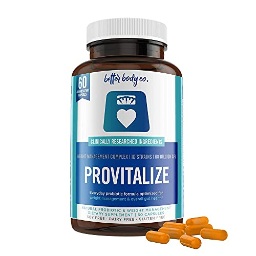 Provitalize   100% Natural & Unique Probiotic Menopause Supplement For Women By Better Body Co   Combat Weight Gain, Joint Pain, Hot Flashes, Mood Swings & Low Energy