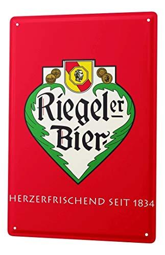 LEotiE SINCE 2004 Blechschild Nostalgie Bier Deko Fürstenberg Riegeler Seit 1834 Wandschild 20X30 cm