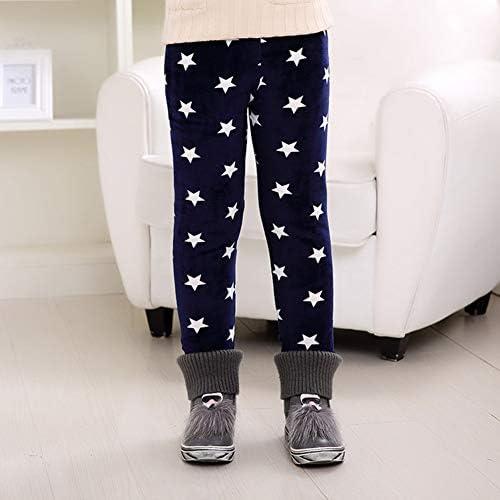 LPATTERN Enfant Gar/çon Legging Filles Hiver Chaud Collant Jambieres en Coton Velour Pantalon Thermique Stretch 2-11ans