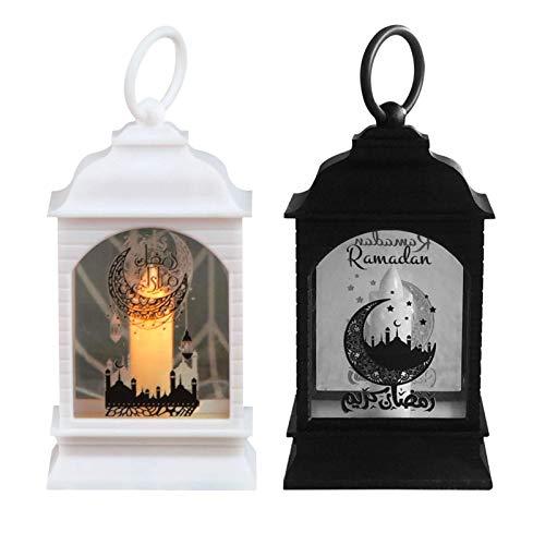 2 Stück Marokkanischen Stil Kerze Laterne, Kleine Teelichthalter Ramadan Laterne LED Windlicht Hängend Candle Lantern Glass Gartenwindlicht Für Terrasse Drinnen Draußen Veranstaltungen Partys Und Hoch