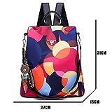 Mdsfe Mochila de Moda 2020 Bolso de Hombro para Mujer Mochila de Gran Capacidad para Mujer Mochila Escolar para Adolescentes Mochila de Viaje Ligera para Mujer - Multicolor