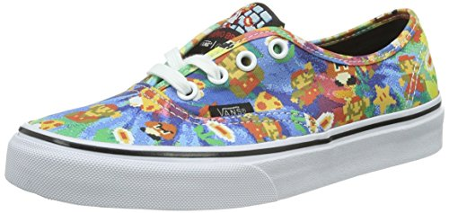 Vans Unisex-Erwachsene Authentic Low-Top, Mehrfarbig ((Nintendo) Super Mario Bros/tie-dye), 42 EU