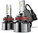 Marsauto H11/H8/H9 Led Headlight Bulbs,12000LM 6000K Xenon White,M2 Series Low Beam/Fog Light Bulb Conversion Kit with Fan