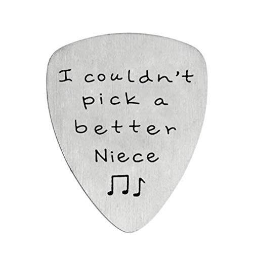 I Couldn't Pick A Better Niece Guitar Pick Jewelry Gift for Niece From Aunt Uncle Musician Gifts