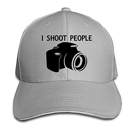 XCNGG I Shoot People - Cámara de fotografía Gorra con Visera Deportes al Aire Libre Sombrero Tipo sándwich Ajustable Sombrero Deportivo