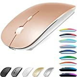 Rechargeable Bluetooth Mouse for MacBook pro/MacBook air/Laptop/iMac/ipad, Wireless Mouse for MacBook pro MacBook Air/iMac/Laptop/Notebook/pc(Bluetooth Mouse/Rose Gold)