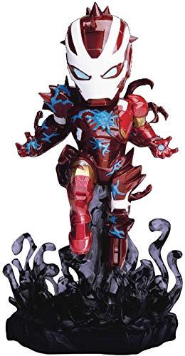 Beast Kingdom Toys Marvel Maximum Venom Collection Mini Egg Attack Figure Venomized Iron Man 14 cm