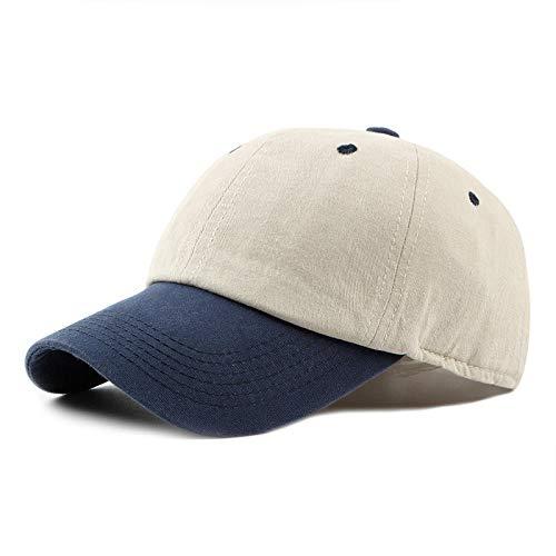 Herren Kappe Hut Baseball Cap Männer Frauen Hüte Und Mützen Papa Hut Hip Hop Snapback Cap Patchwork Trucker Hut-Beige_Adjustable_55To60Cm