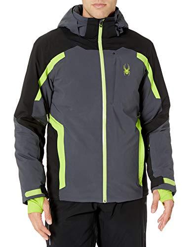 Spyder Herren Copper Gore-Tex Skijacke - Male Full Zip Hooded Winter Coat, Herren, Copper Gore-tex Ski Jacket, Ebenholz, Medium
