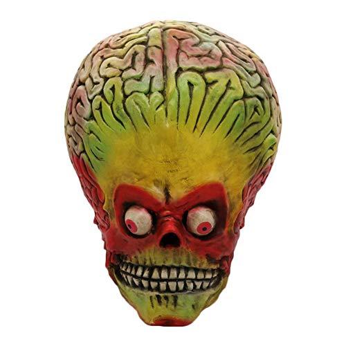 Draulic Halloween Horror Maske Naturlatex Realistisch - Vollkopf Alien Maske Performance Prop Für Dress Party