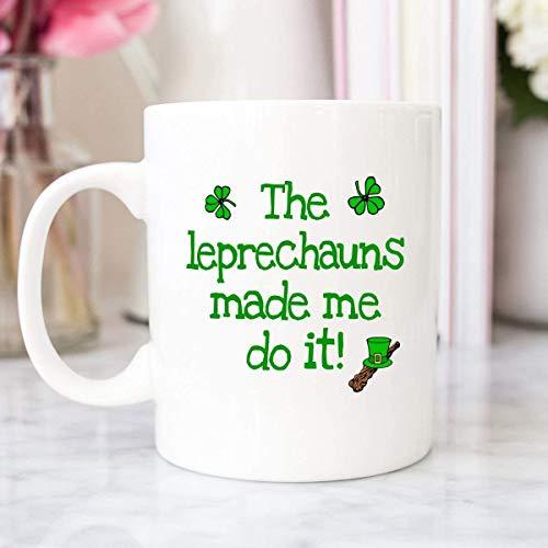 NA Taza Irlandesa - Taza de café Irlandesa - Duendes - Taza de café Divertida - Irlanda - Día de San Patricio - Día de San Patricio - Taza Irlandesa Divertida MUGREEVA MUG