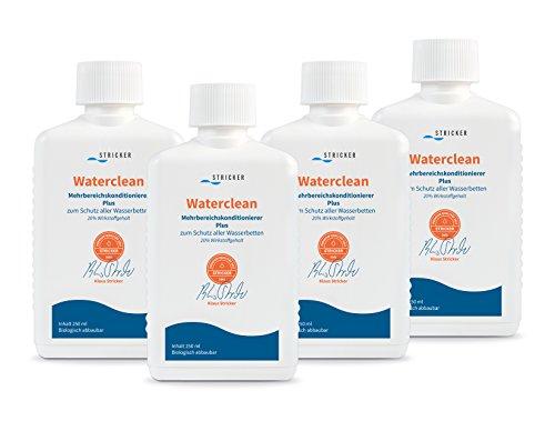 Strickerchemie Waterclean Mehrbereichs Wasserbett Konditionierer/Conditioner; 4 mal 250ml