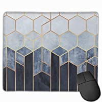 Soft?Blue?Hexagons Serving Tray デスクマット マウスマット ゲーミングマウスパッド - 防水性 耐油性 キーボードマット PU デスクパッド PC机 マット 光学式マウス対応 ノートパソコン対応 耐洗い表面 9.8*11inch