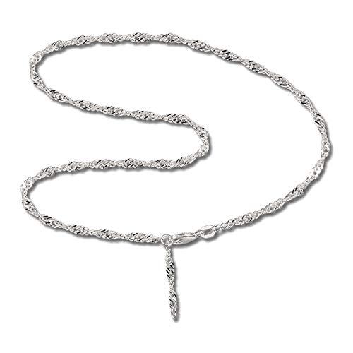 SilberDream Damen-Fußkette 25cm 925er Silber nickelfrei Singapur D3SDF014 Silber Fußschmuck für die Frau