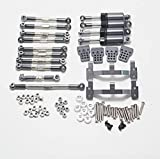 Eddwiin para WPL C14 C24 Modelo RC Accesorios de Coche Kit de camión Piezas de actualización de Metal Kit de Amortiguador de Palanca de Cabeza de Bola de actualización de Metal ( Color : Set 1 )