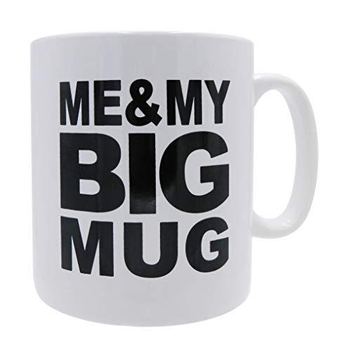 Mug BIG Coffee Mug oversize 28 ounces Mega Size Cup, Extra Large for Big drinks, Office desk decor novelty Gift Coffee Lovers XL Coffee Mug (ME & MY BIG MUG)