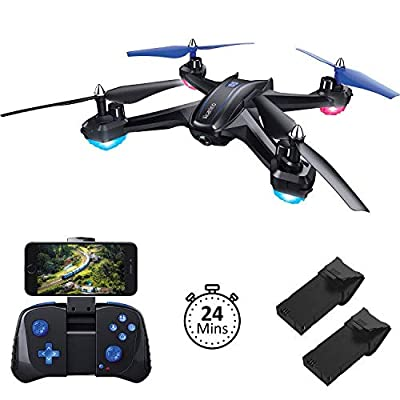 Akamino 1 S6 Quadcopter, WiFi FPV Drone with 120° FOV 720P HD Camera for Adault, Beginners with Trajectory Flight, Gravity Sensor, 3D Flip, APP Control