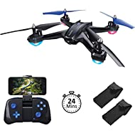 Akamino S6 WiFi FPV Drone, RC Quadcopter with 120° FOV 720P HD Camera for Adult, Portable...