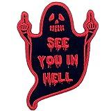 Parche termoadhesivo para la ropa, diseño de Nos vemos en el infierno Fantasma